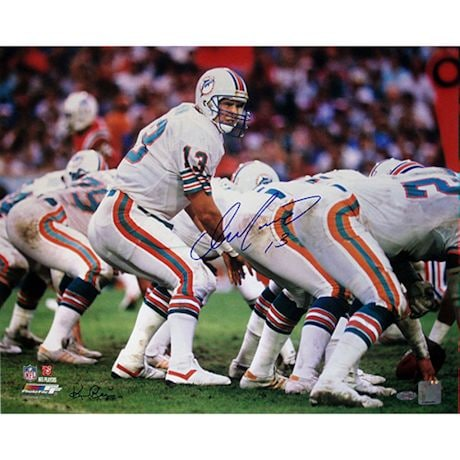 Dan Marino Miami Dolphins Home Jersey At The Line Of Scrimmage Horizontal 16x20 Photo (Signed by Ken Regan)
