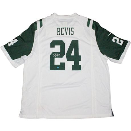 Darrelle Revis Signed Nike Jets  White Replica Jersey