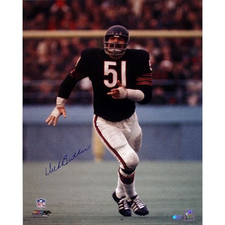 Dick Butkus Chicago Bears Blue Jersey Vertical 16x20 Photo