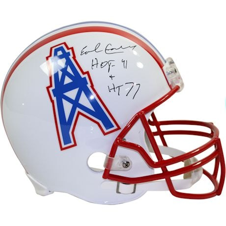 "Earl Campbell Signed Houston Oilers Riddell Replica Throwback Helmet w/ ""Heisman 77, HOF 91"" Insc"