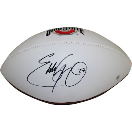 Eddie George Signed Ohio State Buckeyes Jarden White Panel Signature Football