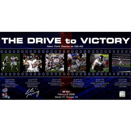 Eli Manning Drive to Victory Filmstrip 12x23 Photo