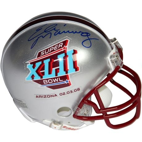 Eli Manning Signed Super Bowl 42 Mini-Helmet