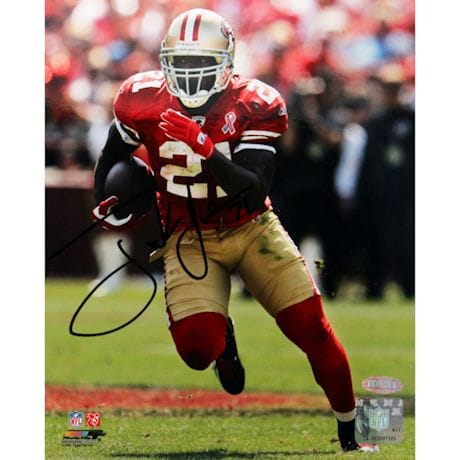 Frank Gore Running Red Jersey Vertical Signed 8x10 Photo (ONLY SELL FRAMED)