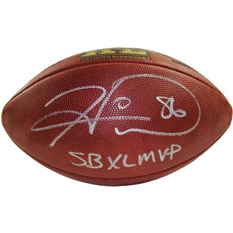"Hines Ward Signed NFL  Super Bowl 40 Logo Football w/""SB XL MVP""Insc. (JSA Holo/SSM)"