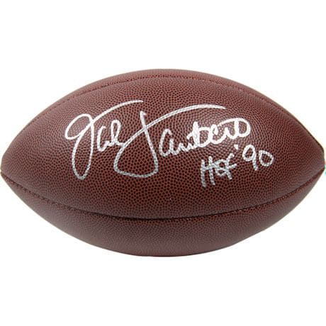 Jack Lambert Signed Wilson NFL 'The DUKE' Replica Football  ( ReichPM Auth)