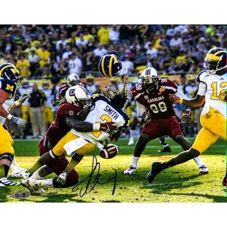 Jadeveon Clowney Hit vs. Michigan Signed 16x20 Photo