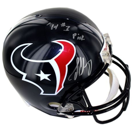 "Jadeveon Clowney Signed Houston Texans Replica Helmet w/ ""'14 #1 Pick"" Inscription"