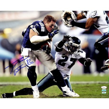 Jason Witten Signed Dallas Cowboys vs Philadelphia Eagles 16x20 Photo  ( JSA Auth & G.B Holo)