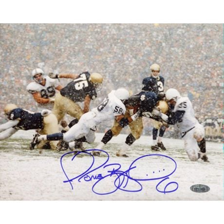 Jerome Bettis Being Tackled In Snow vs. Penn State 8x10 Photo