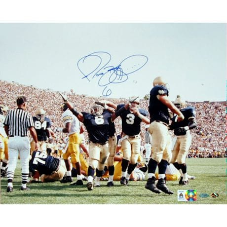 Jerome Bettis vs. Michigan Arms In Air 8x10 Photo