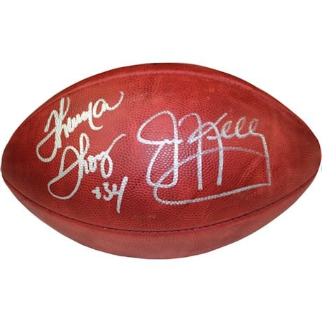 Jim Kelly & Thurman Thomas Dual Signed Duke NFL Football