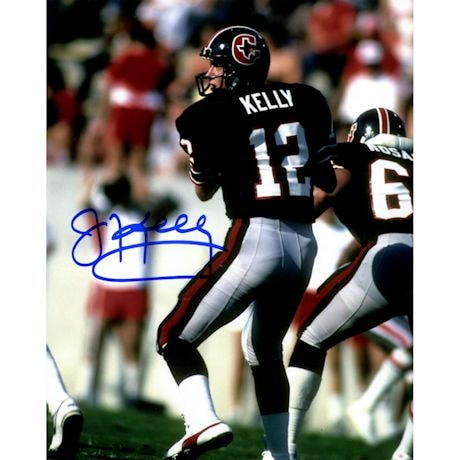 Jim Kelly Signed Houston Gamblers Vertical 8x10 Photo