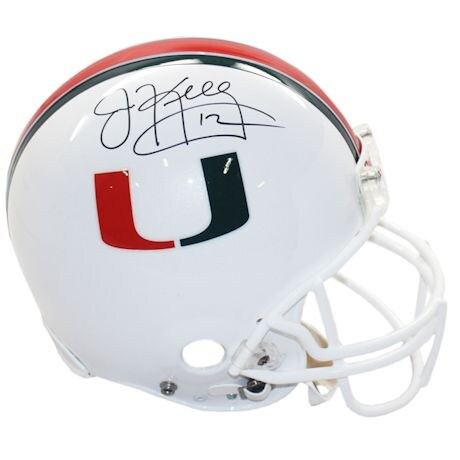 Jim Kelly Signed University of Miami Replica Helmet