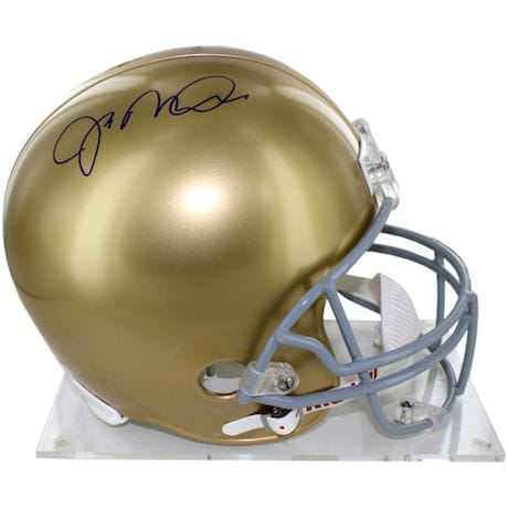 Joe Montana Signed Full Size Replica Notre Dame Helmet