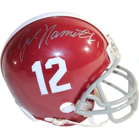 Joe Namath Signed Alabama Crimson Tide Mini Helmet
