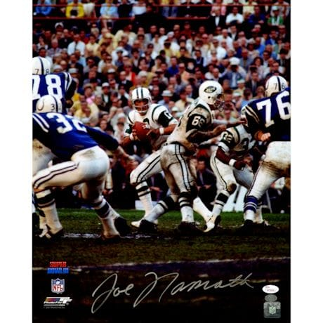 Joe Namath Signed Dropback 16x20 Photo (JSA) (Namath Holo)