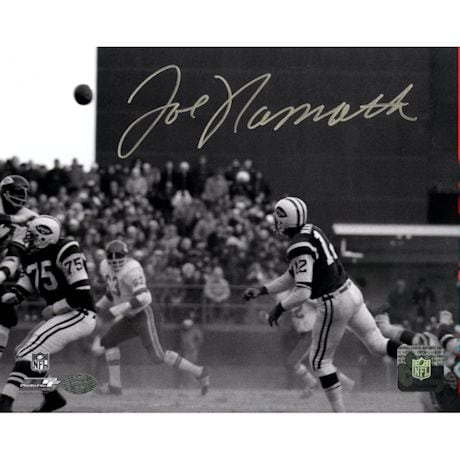 Joe Namath Signed Dust VS KC 8x10 Photo (Namath Holo)