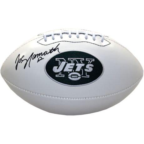 Joe Namath Signed New York Jets White Panel Football