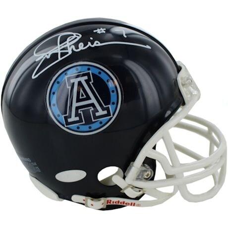 Joe Theismann Signed Toronto Mini Helmet