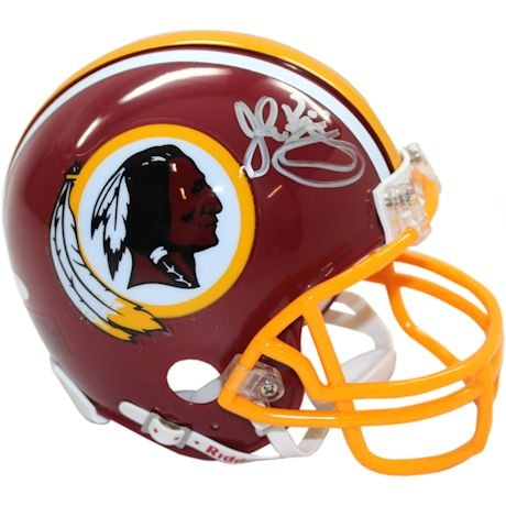 John Riggins Signed Washington Redskins T/B Mini Helmet