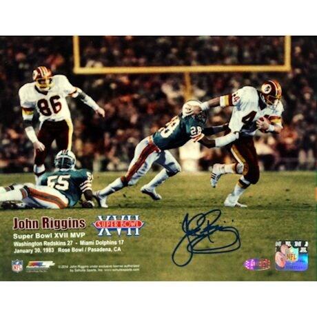John Riggins Washinton Redskins Super Bowl XVII vs Miami Dolphins Horizontal 8x10 Photo