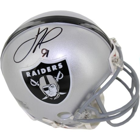 Justin Tuck Signed Oakland Raiders Mini Helmet