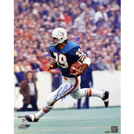 "Larry Csonka Signed Dolphins 16x20 Photo w/ ""72 17-0"" insc"