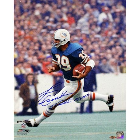 "Larry Csonka Signed Dolphins 16x20 Photo w/ ""SB VIII MVP"" insc"