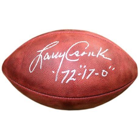 Larry Csonka Signed Duke Football w/ '72' 17-0 Insc