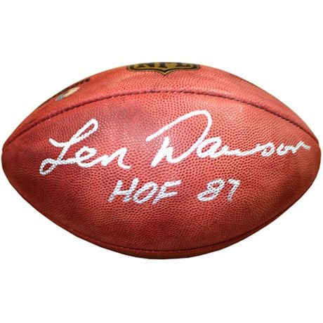 Len Dawson Signed Duke Football w/ HOF 87 Inscription