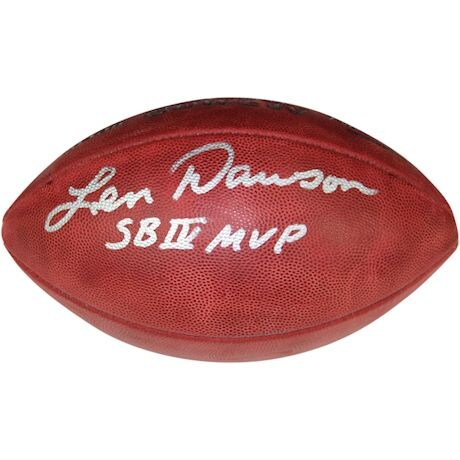 "Len Dawson Signed SB IV Football w/ ""SB IV MVP"" Inscription"