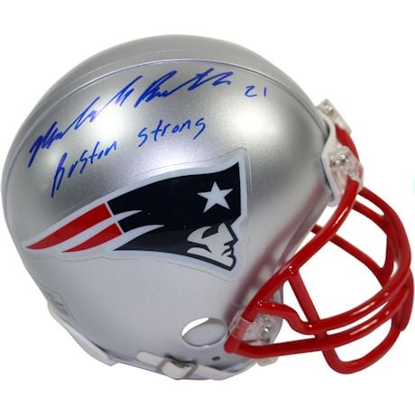 "Malcolm Butler Signed New England Patriots Mini Helmet w/ ""Boston Strong"" Insc"