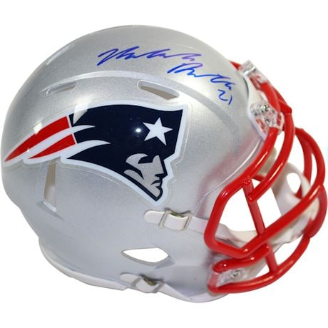 Malcolm Butler Signed New England Patriots Speed Mini Helmet