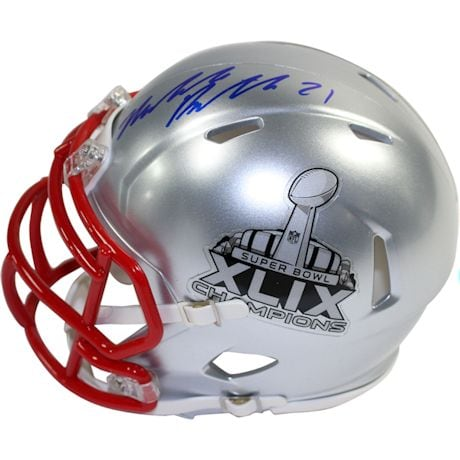Malcolm Butler Signed Superbowl 49 Champions Mini Speed Helmet