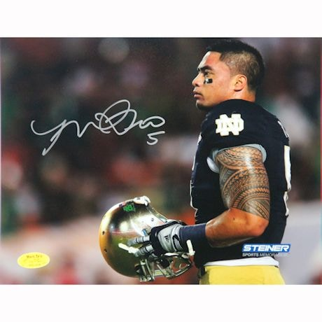 Manti Te'o Notre Dame Fighting Irish Warm Up 8x10 Photo (Te'o Holo Only)