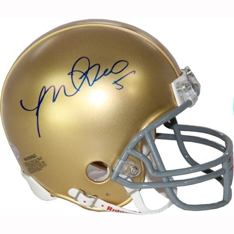 Manti Te'o Notre Dame Signed Mini Helmet (Manti Te'o Holo Only)