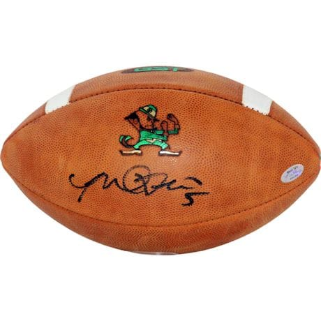 Manti Te'o Signed Notre Dame Game Model Football (Te'o Holo Only)