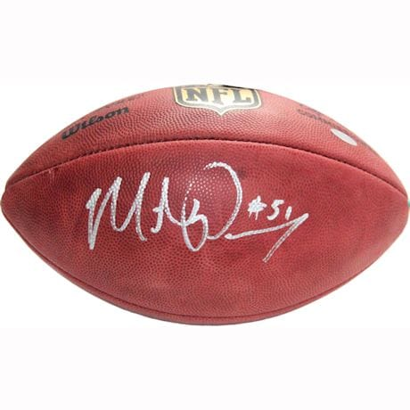 Michael Pouncey Signed NFL Football