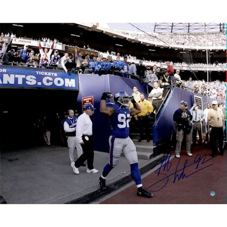 Michael Strahan Signed Introduction to Game 16x20 Photo