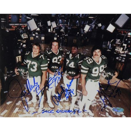 New York Sack Exchange Signed Exchange Floor Horizontal 16x20 Photo