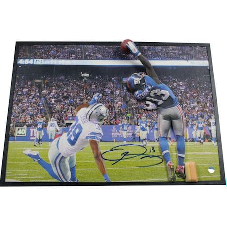 Odell Beckham Jr. Signed One Handed Catch 10x14 3D Print Art