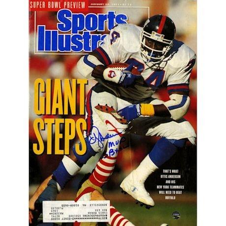 "OJ Anderson Signed 1/28/91 Sports Illustrated Magazine w/ ""SB XXV MVP"" Insc"