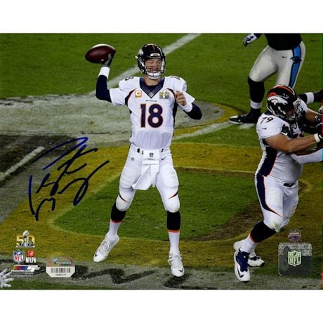 Peyton Manning Signed Super Bowl 50 Action 8x10 Photo