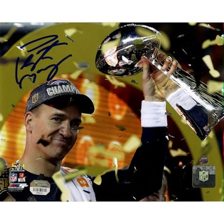 Peyton Manning Signed Super Bowl 50 Celebration 8x10 Photo (Fanatics/SSM)