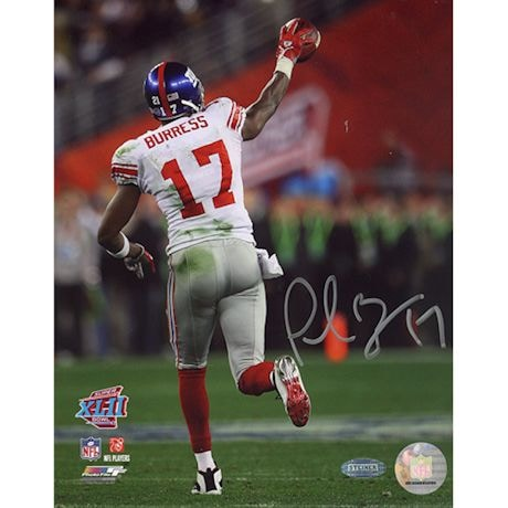 Plaxico Burress SB XLII Running Down Field After TD 16X20 Photo