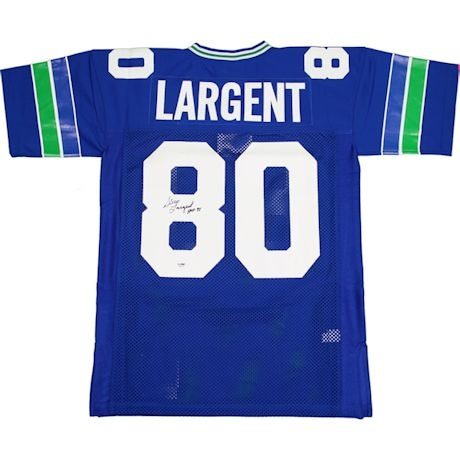 "Steve Largent Signed Seattle Seahawks Throwback Mitchell and Ness Jersey w/"" HOF 95""Insc.( PSA/DNA)"