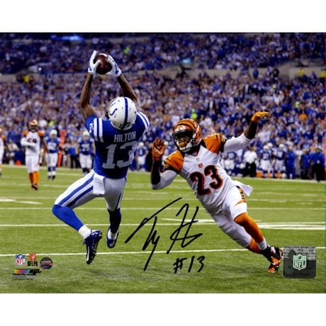 T.Y. Hilton Signed Falling Backwards Catch 8x10 Photo