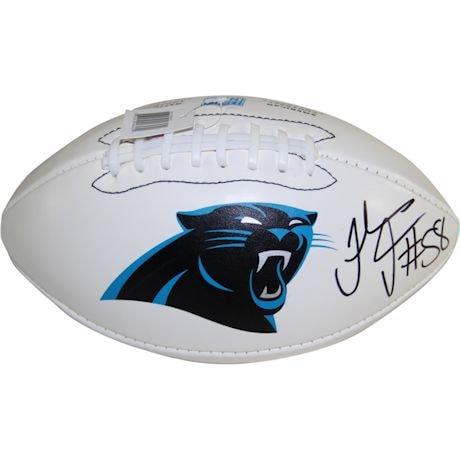 Thomas Davis Signed Carolina Panthers Wilson White Panel Football (JSA Auth)