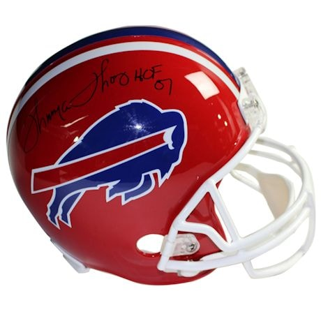 "Thurman Thomas Signed Buffalo Bills Red Replica Helmet w/ ""HOF"" Insc."
